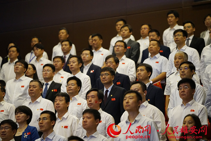 雄安新(xin)�^干部群�收看�c祝中�A(hua)人民共和��(guo)成(cheng)立70周年大��